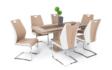 Kép 1/4 - Flóra asztal Adél székekkel | 6 személyes étkezőgarnitúra
