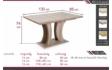 Kép 3/4 - Bella asztal méretrajz