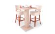 Kép 2/8 - Cocktail asztal + 2db Róma bárszék