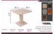 Kép 4/7 - Bár asztal 80 cm-es méretrajz