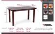 Kép 3/12 - Dante asztal méretrajz