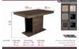 Kép 4/4 - Debora asztal méret rajz