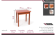 Kép 3/4 - Fiona asztal méretek