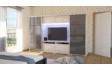 Kép 3/8 - Magasfényű Bond TV-s gardrób 2 bútorlapos-2 magasfényű ajtóval | 318 cm