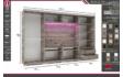 Kép 2/8 - Magasfényű Bond TV-s gardrób 2 bútorlapos-2 magasfényű ajtóval | 318 cm