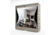 Kép 3/6 - Diego tolóajtós gardrób 200 cm széles san remo-fényes fekete színben
