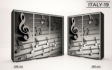 Kép 21/37 - Italy style tolóajtós gardrób| Üveges Ajtó, mintákkal | 239 cm