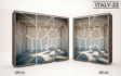 Kép 25/37 - Italy style tolóajtós gardrób| Üveges Ajtó mintákkal | 160 cm