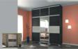 Kép 7/7 - Lux tolóajtós gardrób 239 cm széles nero-bianco felső magasítóval