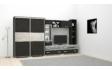 Kép 5/5 - Dubalux 375 cm-es nappali szekrénysor katthult-nero színben