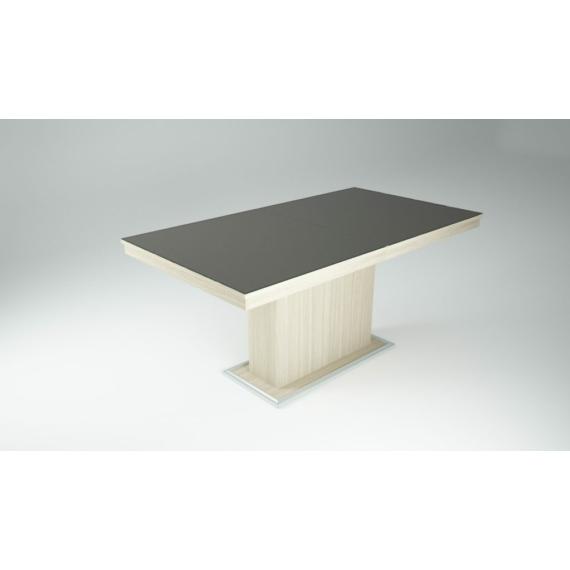 Flóra Plusz asztal antracit - ferrara tölgy