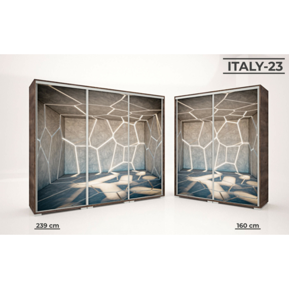 Italy style tolóajtós gardrób 160 cm széles