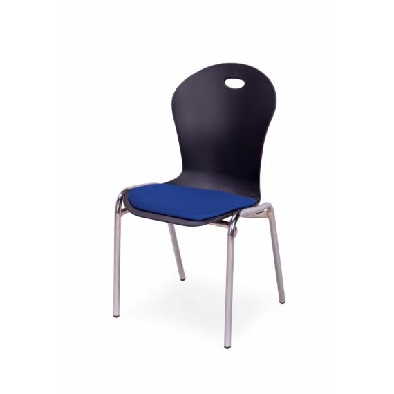 T3 konferencia szék fekete-kék színben