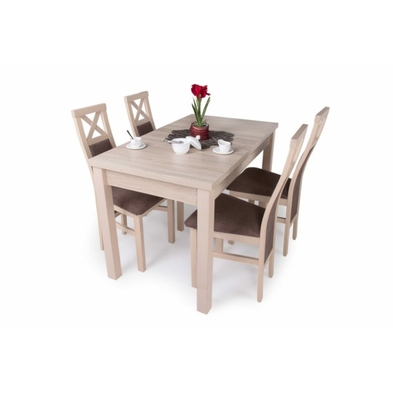 Berta asztal Herman székekkel, 4 személyes étkezőgarnitúra