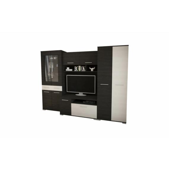 Golden szekrénysor nero-bianco színben 280cm-es kivitel.