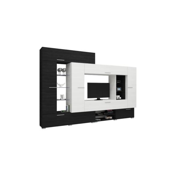 Komfort szekrénysor nero-bianco színben 325cm-es kivitel.