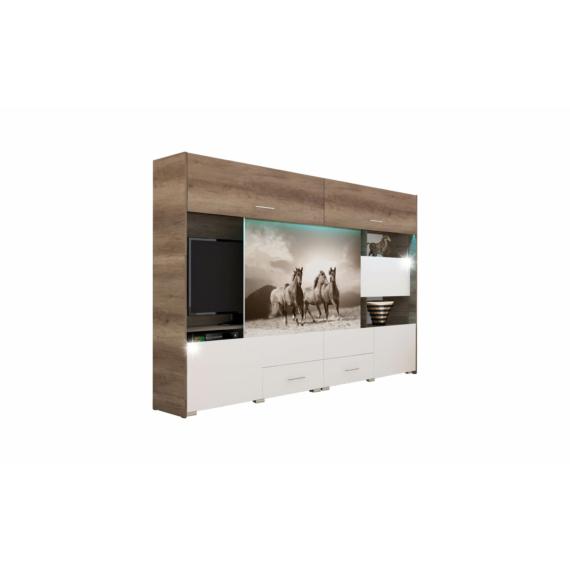 New York 304cm-es nappali szekrénysor lovas mintával