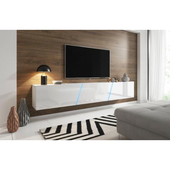 Slant TV állvány fehér - fényes fehér