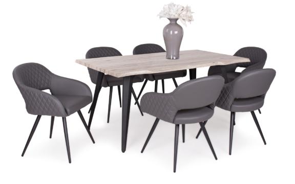 Tina asztal san remo - Cristal székekkel