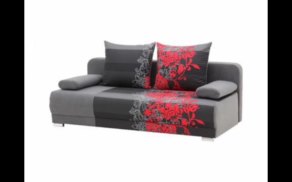 ZICO kanapé piros virágok