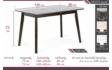 Kép 2/21 - Anita asztal méretrajz