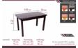 Kép 2/3 - Piano asztal méretrajz
