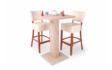Kép 7/7 - 66cm-es Bár asztal Roma székekkel