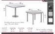 Kép 2/2 - Gréta asztal méretrajz
