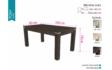 Kép 7/11 - Tony asztal Brill székekkel   6 személyes étkezőgarnitúra 160cm(+40cm) x 90cm