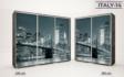 Kép 16/38 - Italy style tolóajtós gardrób| Üveges Ajtó, mintákkal | 239 cm