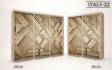 Kép 24/38 - Italy style tolóajtós gardrób| Üveges Ajtó, mintákkal | 239 cm