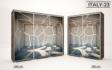 Kép 25/38 - Italy style tolóajtós gardrób| Üveges Ajtó, mintákkal | 239 cm
