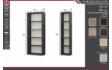 Kép 2/4 - vitrines polcos elem méretrajz