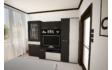Kép 2/5 - Golden nappali szekrénysor nero-bianco színben 280 cm-es kivitelben
