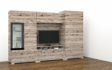 Kép 7/10 - Messina 300 cm-es nappali szekrénysor san remo színben