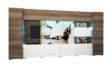 Kép 1/11 - New York 400 cm-es nappali szekrénysor órás mintával