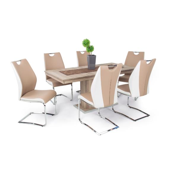 Flóra asztal Adél székekkel | 6 személyes étkezőgarnitúra