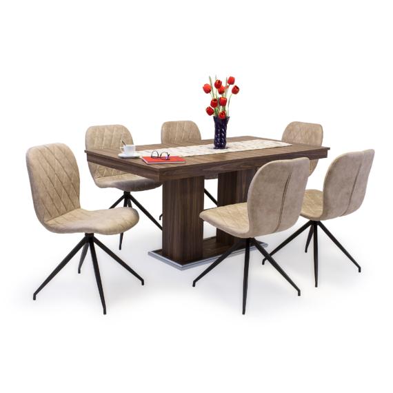 Corfu asztal Amazon székekkel | 6 személyes étkezőgarnitúra