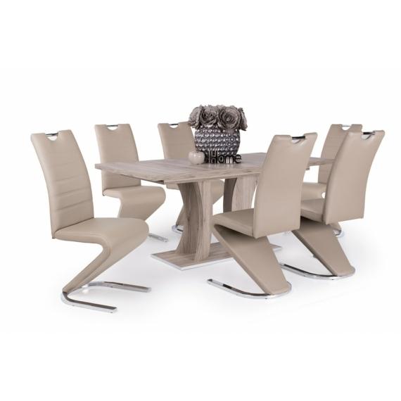Bella asztal Lord székekkel, 6 személyes étkezőgarnitúra
