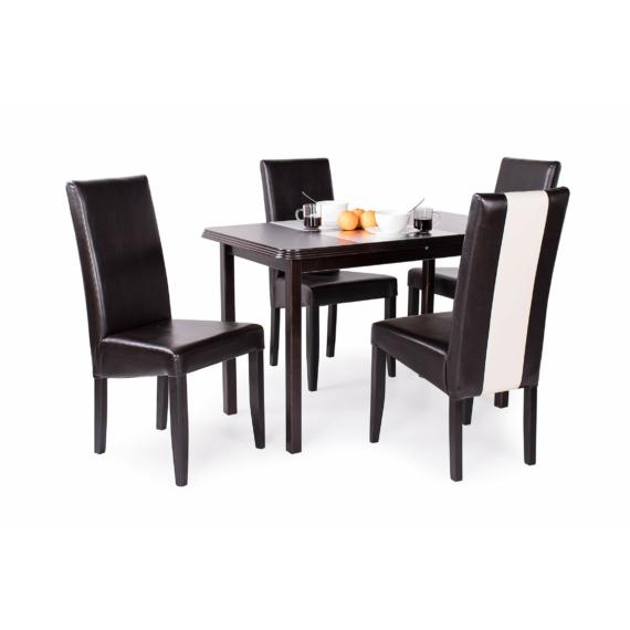 Piano asztal Berta Mix székekkel   4 személyes étkezőgarnitúra