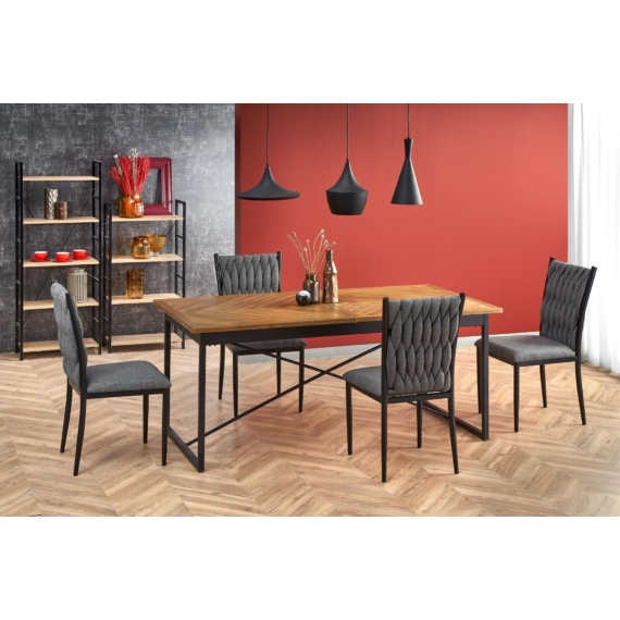 Alvaro asztal, K435 székekkel | 4 személyes étkezőgarnitúra