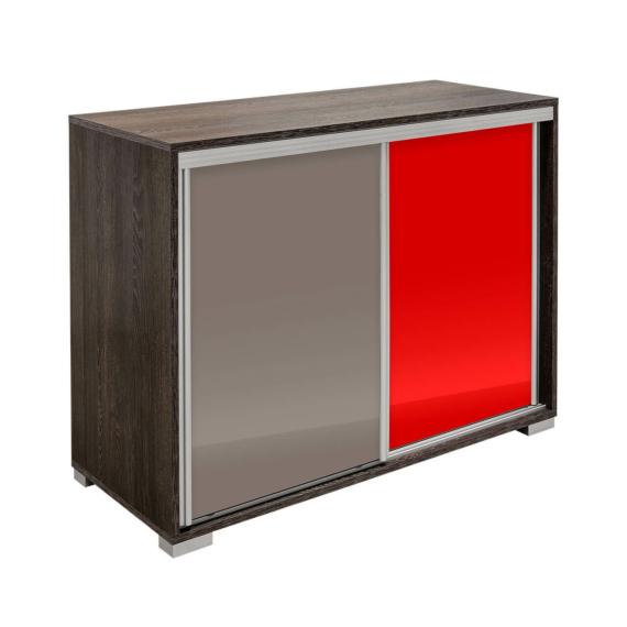 Bond magasfényű tolóajtós komód canterbury-latte-piros színben