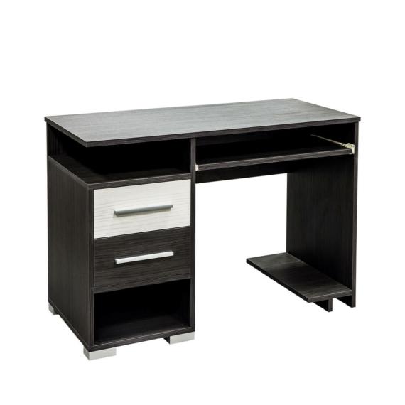 Golden 2 fiókos számítógépasztal nero-bianco színben