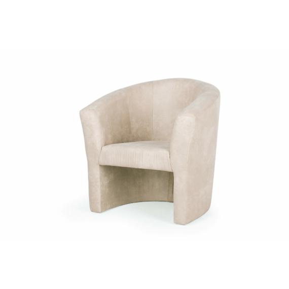 berta elegant fotel drapp színben