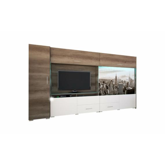 New York 352 cm-es nappali szekrénysor lovas mintával