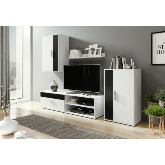 Berno szekrénysor fekete - fehér