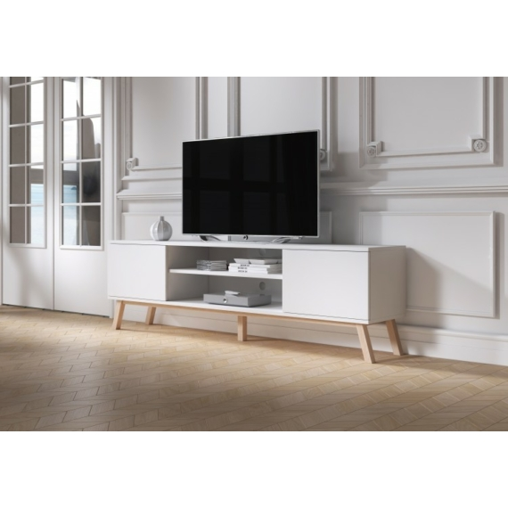 Vero Wood Tv állvány fényes fehér